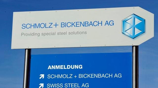 Ein Schild von Schmolz und Bickenbach