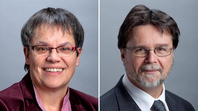 Porträts von Liliane Maury-Pasquier (SP) und Robert Cramer (Grüne).
