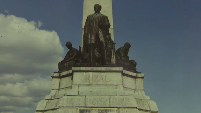 Der philippinische Nationalheld José Rizal steht auf einem Sockel aus Wassner Granit.