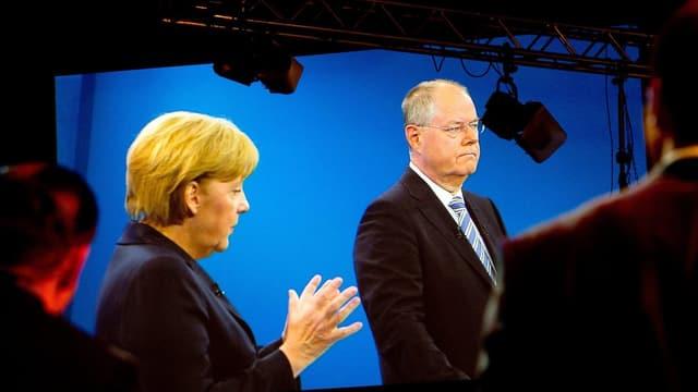 Angela Merkel und Peer Steinbrück beim TV-Duell.