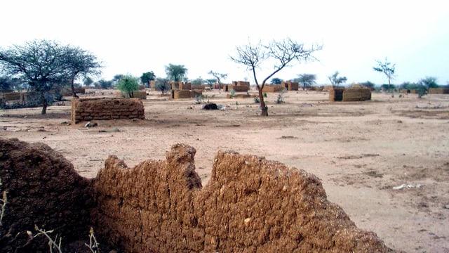 Ein verlassenes Dorf in Darfur.