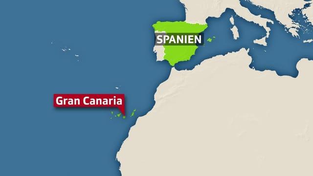 Karte Gran Canaria.