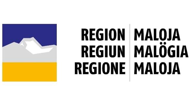 Logo - Regiun Malögia, l'instituziun che cumpiglia 12 vischnancas en Engiadin'Ota e Bregaglia.