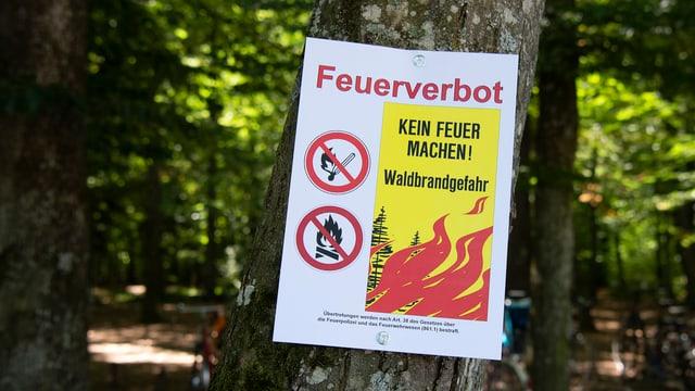 Ein Schild mit der Aufschrift Feuerverbot
