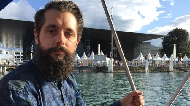 Andi Rohrer am Blue Balls Festival in Luzern.