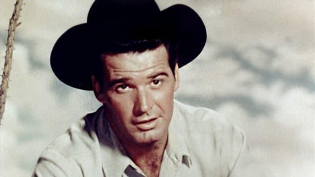 Mann mit Cowboy Hut.