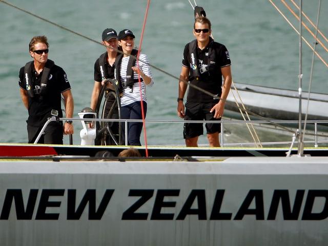 Prinz William und Herzogin Catherine beim Segeln in Auckland.