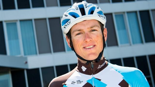 Mathias Frank in den Farben seines neuen Teams AG2R La Mondiale