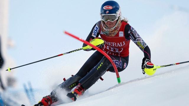 Die Amerikanerin Mikaela Shiffrin war beim Slalom in Levi nicht zu schlagen.