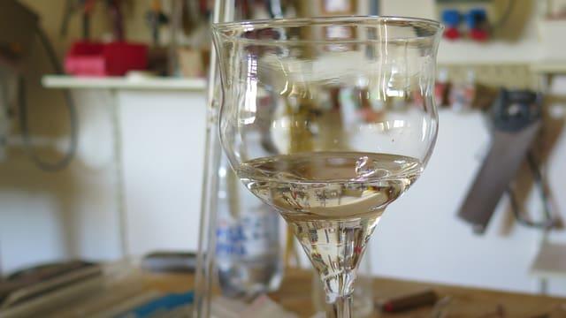 Selbstgemachtes Weinglas