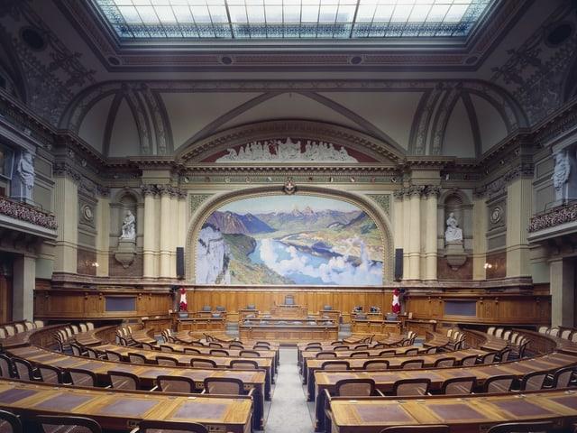 Blick in den Nationalraatsaal