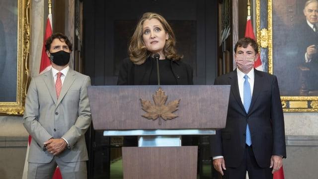 Trudeau und Chrystia Freeland