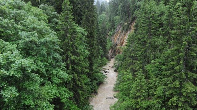 Il Rain a Fontanivas (Mustér) maina era in pau material, pervi da la bova ch'è vegnida giu l'enviern en la Val Strem (Tujetsch) plievgia.