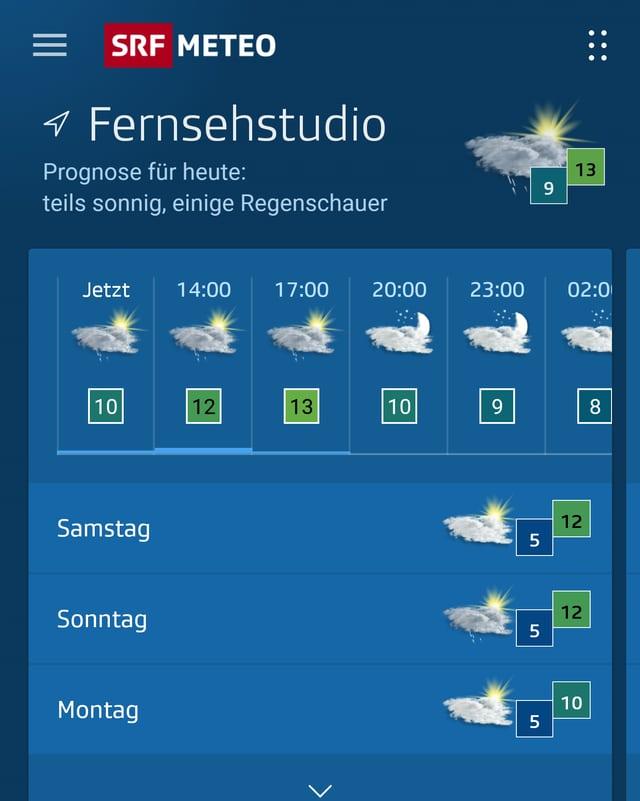 Ein Screenshot der App zeigt die Startseite.