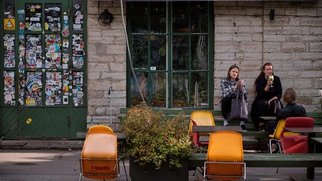 Menschen in Tallinn