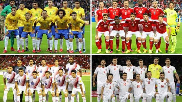 Brasilien, Costa Rica und Serbien.