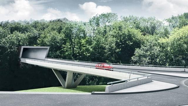 Strassenbrücke.