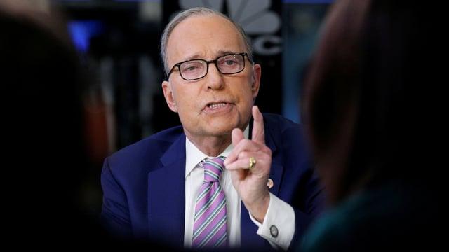 Larry Kudlow in einem TV-Gespräch