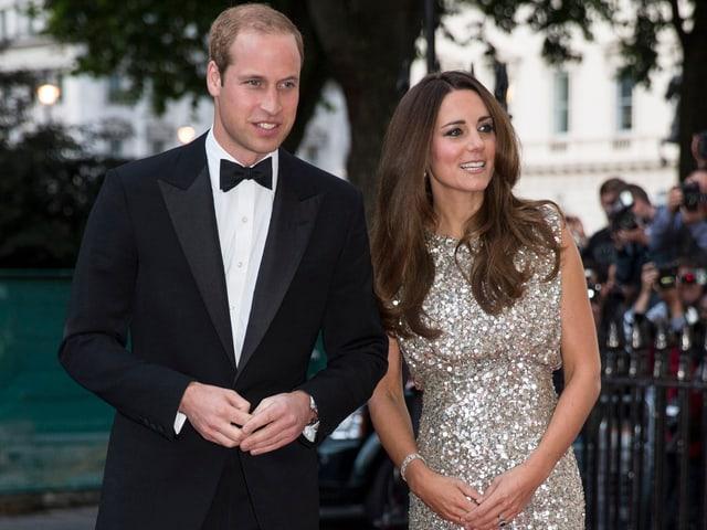 Prinz William und Herzogin Catherine in Abendgarderobe