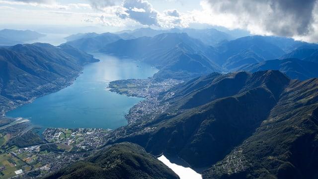 Überblick über Lago Maggiore.