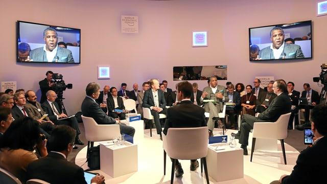 Gesprächsrunde zum Thema «The New Digital Context» in Davos
