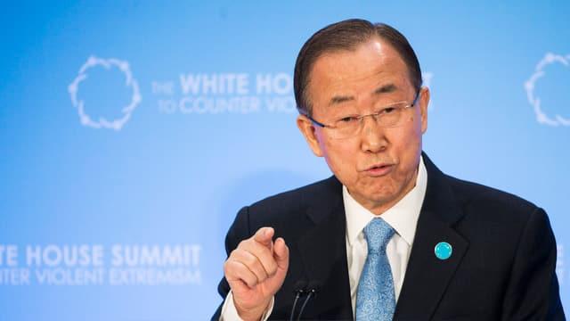 Ban Ki Moon tar in pled