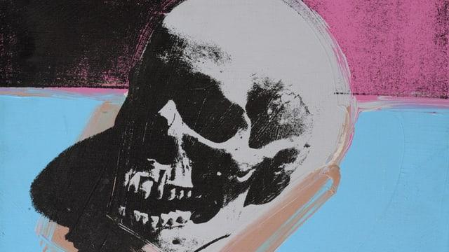 Farbiger Totenschädel von Andy Warhol