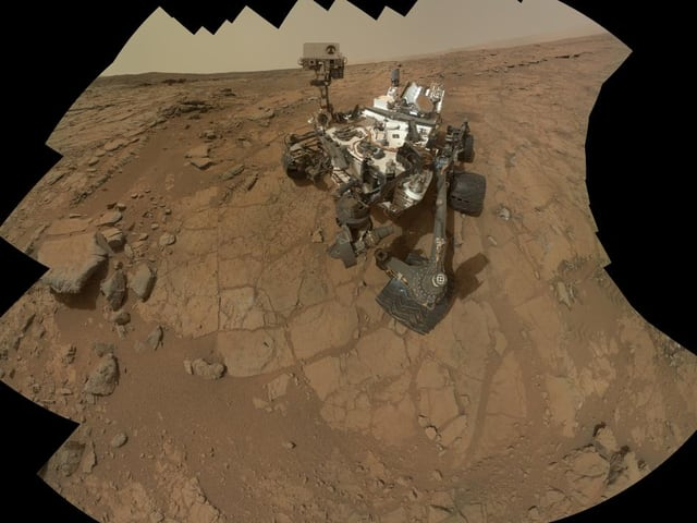 «Curiosity» auf dem Mars.