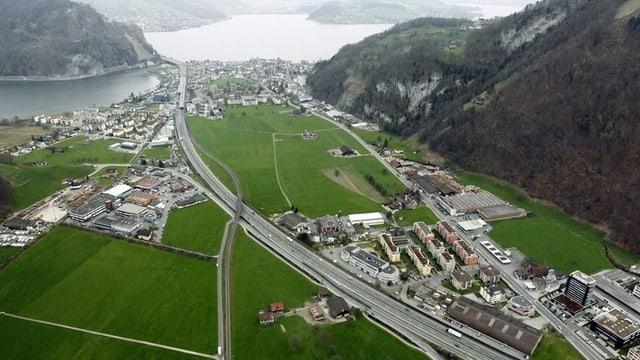 Autobahn A2 zwischen Stans und Stansstad.