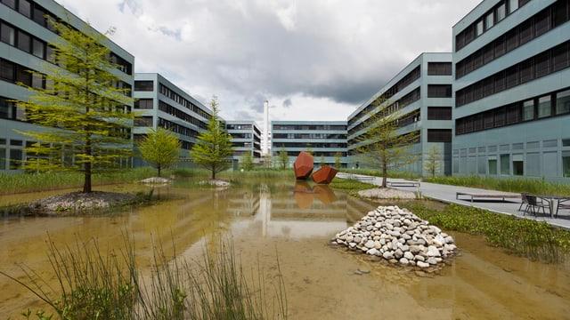 Der Siemens Campus in der Stadt Zug wird für 2000 Mitarbeiter erweitert.