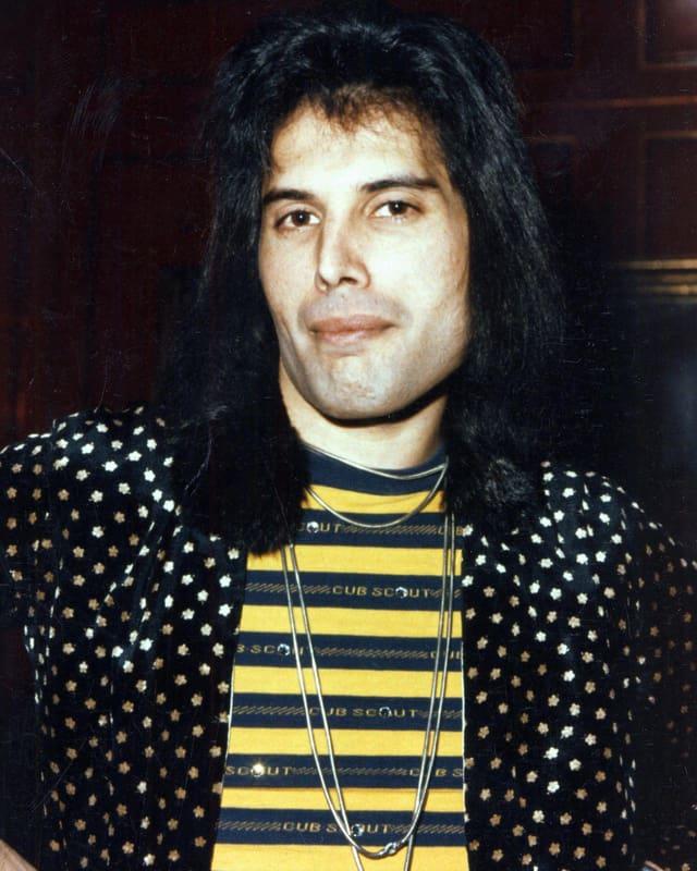 Ein Porträt von Freddie Mercury, 1976.