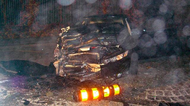 Il 2008 è il manischunz da quest auto collidà durant ina cursa illegala cun in auto che vegniva encunter.