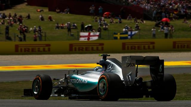 Nico Rosberg en ses Mercedes