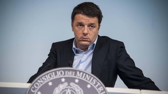 Matteo Renzi an einer Sitzung des Parlaments.