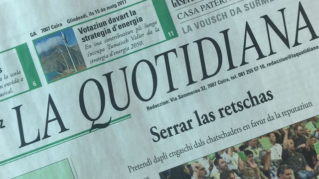 Titelseite der La Quotidiana.