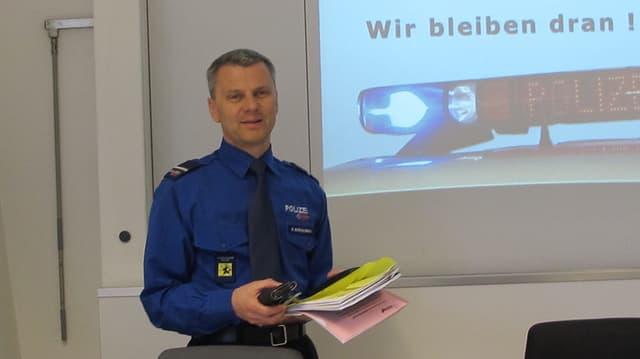 Kurt Blöchlinger, Schaffhauser Polizeikommandant und Vorsitzender der Kerngruppe.