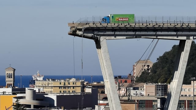 Punt sballunada a Genova