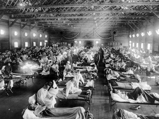 Notspital in der Nähe von Fort Riley (Kansas)