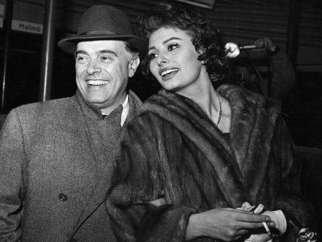 Sophia Loren mit Ehemann Carlo Ponti.