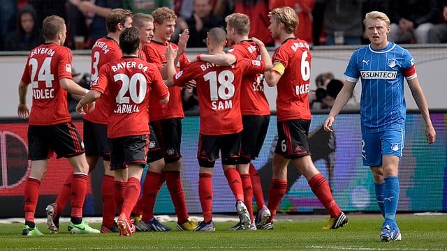 Den Spielern von Bayer Leverkusen gelang gegen Hoffenheim eine starke Lesitung.
