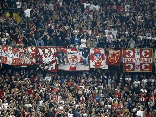 Fans von Roter Stern Belgrad.
