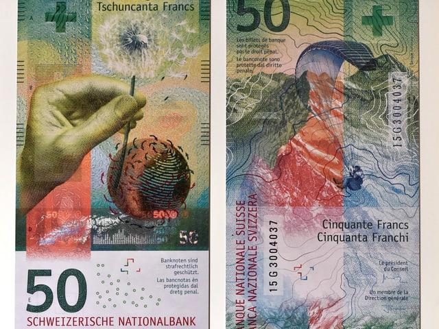 Abgebildet ist die neue 50-Franken-Note