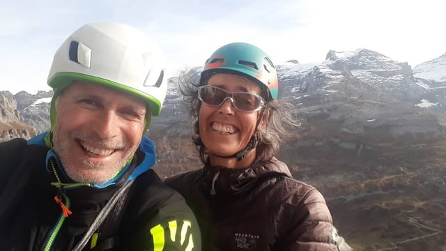 Martin Kreilliger e Rita Christen sin in cuolm