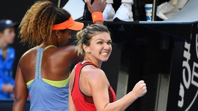 Simona Halep und Naomi Osaka