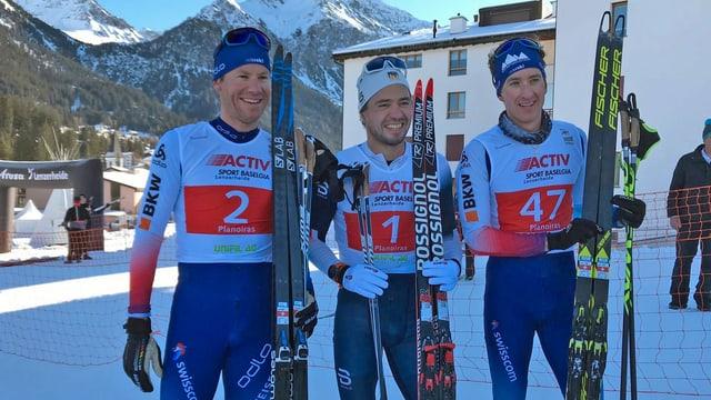 Toni Livers, Ilya Chernousow e Marino Capelli.