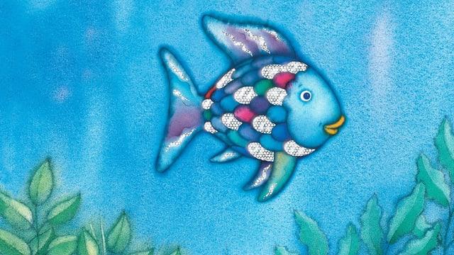 Eine Illustration des Regenbogenfischs.