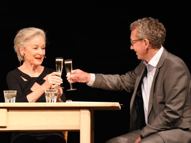 Heidi Maria Glössner und Peter Brandenberger.
