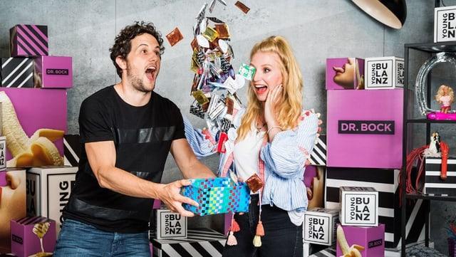 Kevin Oeler und Sarah Christen im Youngbulanz-Studio