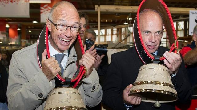Thomas Scheitlin und Bundesrat Ueli Maurer
