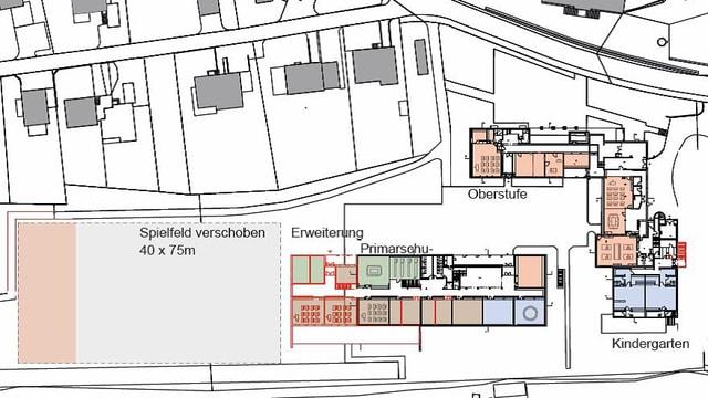plan da construcziun chasa da scola Favugn